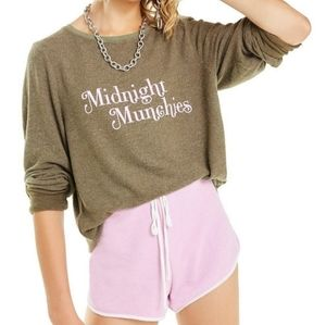 Wildfox Midnight Munchies Sweater, Green, Pink